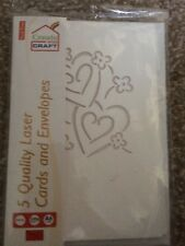 Create and craft pack of 5 laser cut cards and envelopes card making