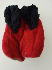 MIXIT 1 Pair Size XL Red Womens Slipper Socks