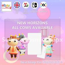 All Cows Animal Crossing Custom NFC Amiibo Compatible Card New Horizons