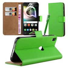 Wallet Flip Book Stand View Case Cover for Alcatel Shine Lite Screen Guard Lime