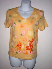 NEW POOH & TIGGER T SHIRT BUTTERFLYS & FLOWERS JR size S or M by DISNEY