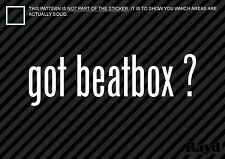 (2) Got Beatbox Sticker Decal hip hop rap break dance