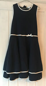 Girls Party Dress By Jasper Conran Aged 11-12 Years Navy & White