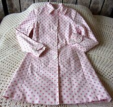Cotton coat by NEW LOOK Size 10 Two tone pink spotted