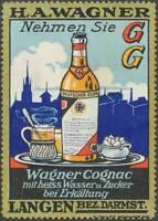 Langen: Reklamemarke Nehmen Sie Wagner Cognac - 434955