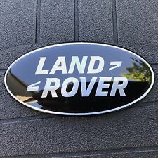 NEW (1PC) LAND ROVER BLACK TRUNK TAILGATE GRILL EMBLEM NAMEPLATE DECAL EM074