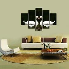 Large Couple Swans Canvas Print Wall Art Painting Picture NO frame 3 Size #1