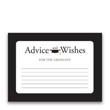 Paper Frenzy Advice and Wishes Black Border for the Graduate Cards for Party