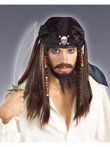 Forum Novelties Pirate Wig With Bandana Scarf One Size