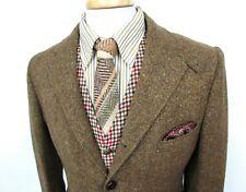 Vtg 60s Abercrombie TWEED Hunting blazer 40 R jacket CHINSTRAP norfolk brown EUC