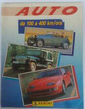 ALBUM FIGURINE AUTO DA 100 A 400 KM/ORA PANINI 1991 COMPLETO