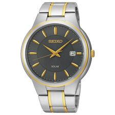 Seiko Solar SNE404 SNE404P9 Mens Solar Watch two-tone WR100m NEW RRP $550.00
