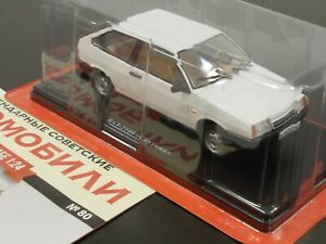 1:24 VAZ-2108 Lada Samara 1300S (длинное крыло) #80 Hachette Legend Soviet Cars