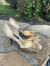 New Nina Heels Size 9M Gold great Condition