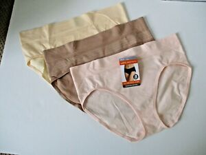 Warners No Muffin Top seamless hipster panties 3 pair size 2XL/9