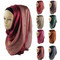 JN_ Women Muslim Hijab Wrap Islamic Shawl Scarf Cap Head Cover Gift Noted