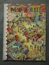 Vintage New Yorker Magazine October 9 1937 - Ilonka Karasz cover art