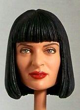 1:6 Custom Head of Uma Thurman as Mia Wallace from the film Pulp Fiction