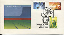 AUSTRALIA  1984 OLYMPIC STAMPS BEFORE DURING AND AFTER THE EVENT UNADDRESSES FDC
