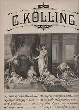 Greek Allegory Drug Related Illus. RARE SHEET MUSIC 1881 La Chasse Au Lion
