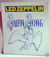 Led Zeppelin Swan Song Rock Band Concert Sticker Old