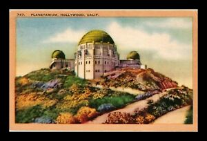 DR JIM STAMPS US PLANETARIUM HOLLYWOOD CALIFORNIA GRIFFITH OBSERVATORY POSTCARD