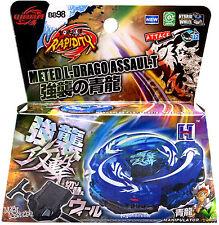 Hot BLUE Assault Ultimate Meteo Drago BB98 Beyblade STARTER SET Launcher Ripcod