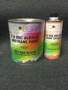 Hot Rod Black Gallon Kit Single Stage ACRYLIC URETHANE  Auto Paint Kit