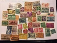 50 COUNT LOT OF VINTAGE US POSTAGE STAMPS - COLLECTION STARTER 1 2 3 4 6 7 CENT