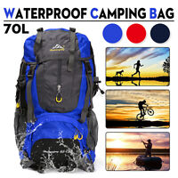 Waterproof Outdoor Sports Backpack Bag Camping Travel Hiking Trekking Rucksack