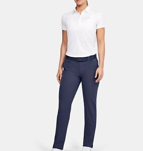 Under Armour Links Womens Adjustable Golf Pants Blue 1272344-497 NEW Size 4