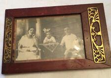 Original Antiker Bilderrahmen Jugendstil Mahagoni Gold Um 1900