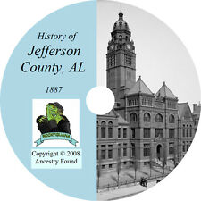 1887- JEFFERSON County Alabama  AL - History Genealogy Ancestry - Birmingham CD