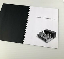 Sonic Frontiers Power 2 stereo amplifier manual and brochures