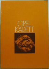 Opel Kadett C E Deluxe Special City Coupe GT/E 1977-78 Original UK Brochure