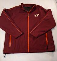 Colosseum Virginia Tech VT Full Zip Wind Breaker Jacket XL