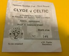 More details for celtic f.c - match tickets - away - clyde - scottish cup - 09-01-1993