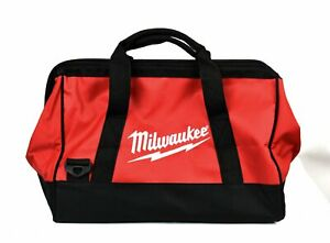 """Milwaukee Soft Sided Heavy Duty Canvas Contractor's Tool Bag Size 16"""" x 12"""" x10"""""""