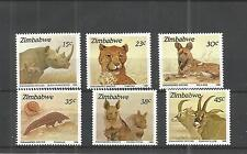 ZIMBABWE 1989 ENDANGERED SPECIES SG,762-767 UN/MM NH LOT 887A