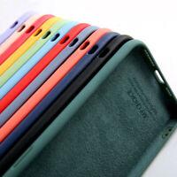 For Apple iPhone 12 mini 11 Pro Max XS XR X 8 7 Plus Liquid Silicone Case Cover