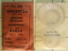 Jurgensen Elgin 6/0s 2890 Replacement Watch Mainspring 634 4 x 10 - .130 x .011