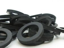 "11/16"" ID Large Rubber Washers  1"" OD. 1/8"" Thick, Black"