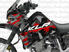 Kawasaki KLR 650 Decals CAMMO DAZZLE RED sticker graphic kit Full Body Wrap