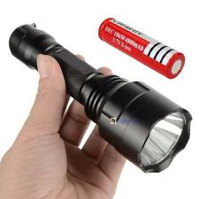 6000LM  CREE Q5 LED C8 Flashlight Torch Lamp Light + 18650 Battery BA