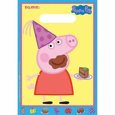 PEPPA PIG PARTY SUPPLIES LOLLY TREAT FAVOUR BAGS SACKS (PACK OF 8)