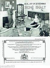 PUBLICITE ADVERTISING 036  1965  Ehalt meubles  salle à manger Glasgow