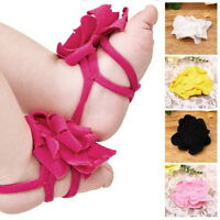 Top Baby Flower Design Baby PreWalker Infant Shoes Cotton Barefoot Sandals QK