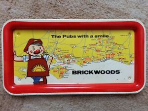 VTG BRICKWOODS THE PUBS WITH A SMILE BREWERIANA ORIGINAL BEER TRAY MAN CAVE PUB