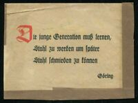 1945 Germany 3rd Reich WWII Postcard Cover Letter Hitler Soldier Feldpost Used