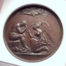 1815 FRANCE Napoleon Bonaparte EXILE to ST. HELENA French Medal NGC MS i73291